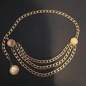 Chanel Vintage Gold Toned Chain Belt